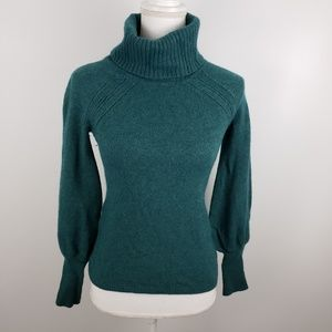 Ann Taylor LOFT turtleneck bubble sleeve sweater S